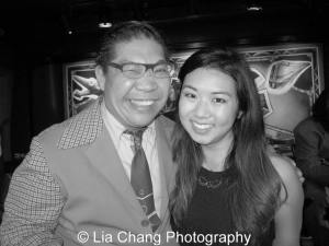 George Gee shares his birthday soiree with fellow swinger Tricia Fukuhara! Photo by Lia Chang
