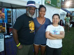 Rome Neal with his daughter Lia Neal and Siu Neal at the International African Arts Festival in Broooklyn in 2013. Photo courtesy of Rome Neal
