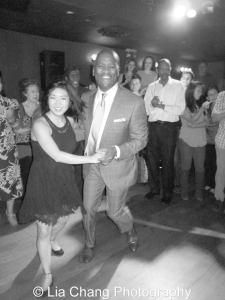 GGSO singer John Dokes gets in a few twirls on the dance floor also with birthday girl Tricia Fukuhara! Photo by Lia Chang