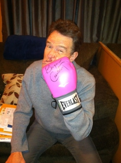 Bryan Cranston taking it on the chin for breast cancer.
