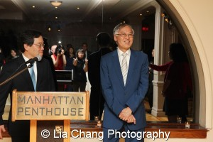 George H. Wang, Chair of the Federation's Board of Directors and Cao K. O. Photo by Lia Chang