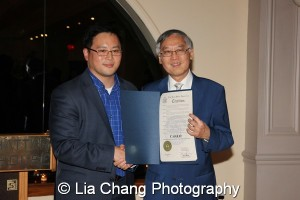 Assemblyman Ron Kim and Cao K. O. Photo by Lia Chang