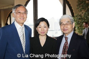 Cao K. O, Chiaki Torisu, Consulate General of Japan in New York, and Hiroshi Aoki, Chairman of the Board of Japanese American Social Services, Inc. (JASSI). Photo by Lia Chang