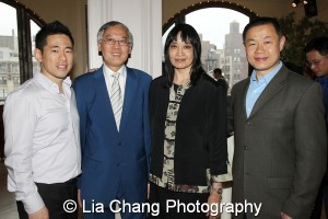 Steve Choi, Executive Director of New York Immigration Coalition; Cao K. O; Margaret Fung, Executive Director, AALDEF; and Former City Comptroller John Liu. Photo by Lia Chang