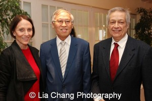 Etan Merrick, Chair of Ma-Yi Theater's Board of Directors; Cao K. O and Jorge Ortoll, Executive Director at Ma-Yi Theater Company. Photo by Lia Chang