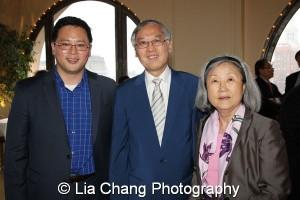 Assemblyman Ron Kim, Cao K. O and Grace Lyu Volckhausen. Photo by Lia Chang