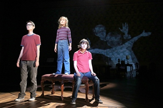Beth Malone, Sydney Lucas & Alexandra Socha in Fun Home. Photo by Joan Marcus