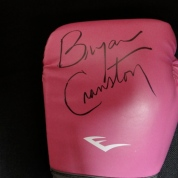 Glove signed by Bryan Cranston.