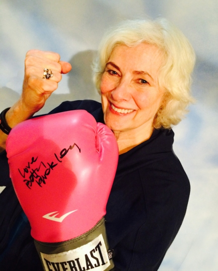 Betty Buckley ready to give one on the chin for breast cancer.