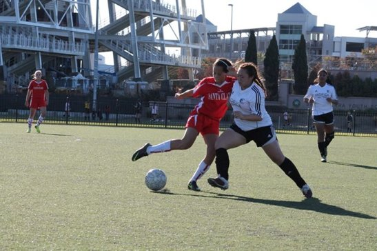 Asia Flores on the soccer field. Photo by Marissa Chang-Flores