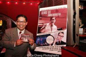 """George Gee with his new CD Swing Makes You Happy"""" at the CD Release Party at Swing 46 in New York on May 20, 2014. Photo by Lia Chang"""