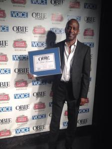 K. Todd Freeman won an 2014 Performance Obie for Fetch Clay, Make Man. Photo courtesy of K. Todd Freeman- Facebook.