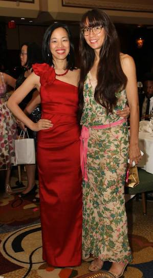 Lia Chang and Ursula Liang at the Asian American Journalists Association's Gala Banquet at the New York Hilton on August 24, 2013.