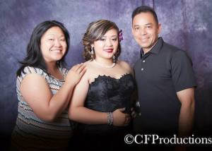 Marissa Chang-Flores, Asia Flores and Carlos Flores. Photo by CF Productions