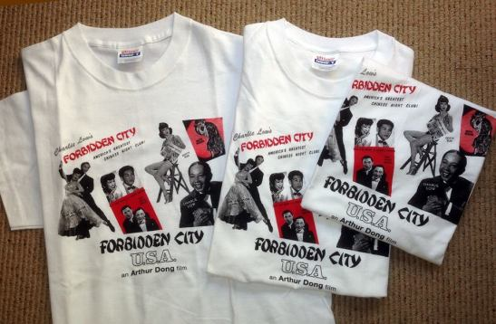 "These are t-shirts that were made during the release of the documentary ""Forbidden City, USA."""