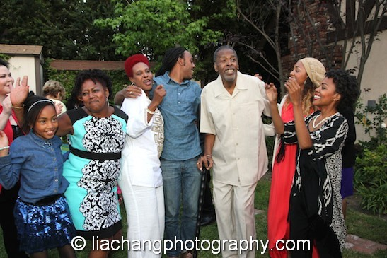 Meshach Taylor and his family at his 67th birthday in Toluca Lake, CA on April 12, 2014. Photo by Lia Chang