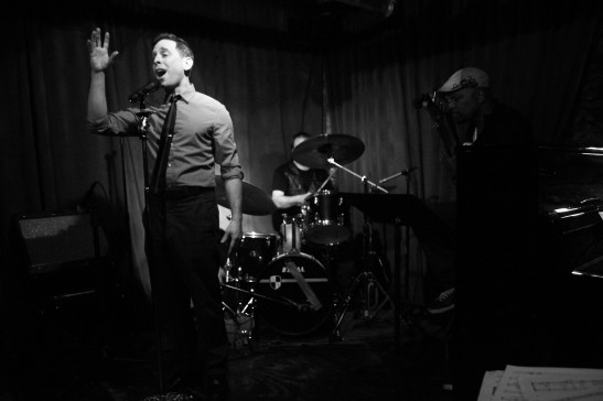 Garth Kravits sings at Michael Raye's The Soul Gathering at The West End Cafe in New York on April 22, 2014. Photo by Lia Chang