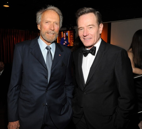 Clint Eastwood and Bryan Cranston attend the 68th Annual Tony Awards at Radio City Music Hall on June 8, 2014 in New York City. (Photo by Kevin Mazur/Getty Images for Tony Awards Productions)