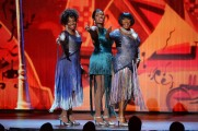 (L-R) Gladys Knight, Fantasia Barrino and Patti Labelle perform onstage during the 68th Annual Tony Awards at Radio City Music Hall on June 8, 2014 in New York City. (Photo by Theo Wargo/Getty Images for Tony Awards Productions)