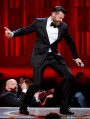 Host Hugh Jackman performs onstage during the 68th Annual Tony Awards at Radio City Music Hall on June 8, 2014 in New York City. (Photo by Theo Wargo/Getty Images for Tony Awards Productions)