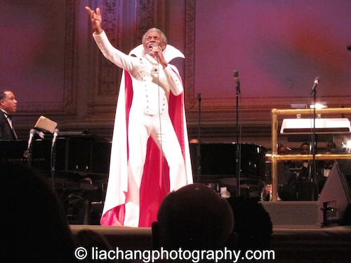 "The Wiz's André De Shields brought the house down as he sang ""So You Wanted to Meet the Wizard"" in his original Broadway costume as part of The Black Stars of The Great White Way Broadway Reunion: Live The Dream at Carnegie Hall in New York on June 23, 2014. Photo by Lia Chang"