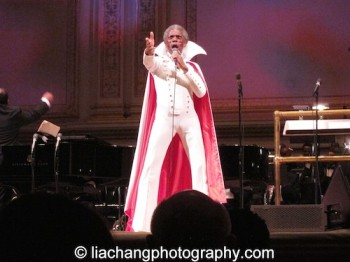 """The Wiz's André De Shields brought the house down as he sang """"Believe in Yourself"""" in his original Broadway costume as part of The Black Stars of The Great White Way Broadway Reunion: Live The Dream at Carnegie Hall in New York on June 23, 2014. Photo by Lia Chang"""