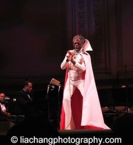 """The Wiz's André De Shields brought the house down as he sang """" Do You Wanted to Meet the Wizard"""" in his original Broadway costume as part of The Black Stars of The Great White Way Broadway Reunion: Live The Dream at Carnegie Hall in New York on June 23, 2014. Photo by Lia Chang"""