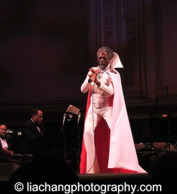 "The Wiz's André De Shields brought the house down as he sang "" Do You Wanted to Meet the Wizard"" in his original Broadway costume as part of The Black Stars of The Great White Way Broadway Reunion: Live The Dream at Carnegie Hall in New York on June 23, 2014. Photo by Lia Chang"
