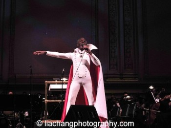 """The Wiz's André De Shields brought the house down as he sang """"So You Wanted to Meet The Wizard?"""" in his original Broadway costume as part of The Black Stars of The Great White Way Broadway Reunion: Live The Dream at Carnegie Hall in New York on June 23, 2014. Photo by Lia Chang"""