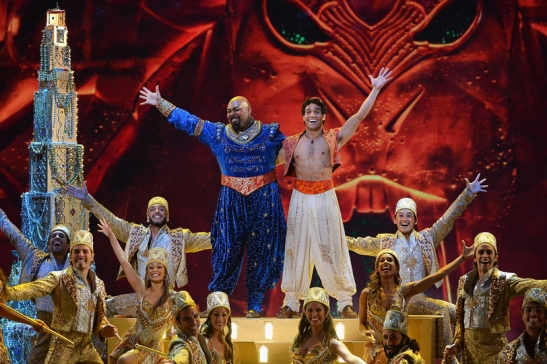 Tony winner James Monroe Iglehart and the cast of 'Aladdin' performing at the 2014 Tony Awards. Credit: Theo Wargo/Getty Images
