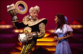 Meshach Taylor and Toni Braxton in the Broadway production of Beauty and the Beast at the Palace Theatre in New York (1998). Photo courtesy of Playbill.com vault
