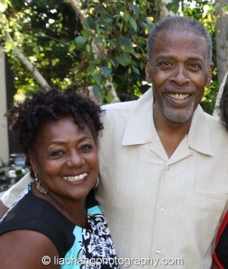 Meshach Taylor with his wife Bianca Ferguson Taylor at his 67th birthday party in Toluca Lake, CA, on April 12, 2014. Photo by Lia Chang