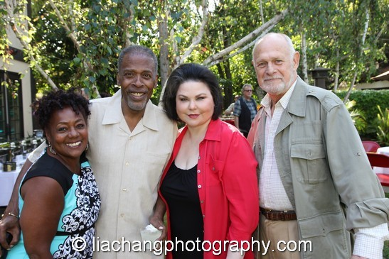 Bianca Ferguson Taylor, Meshach Taylor, Delta Burke and Gerald McRaney. Photo by Lia Chang