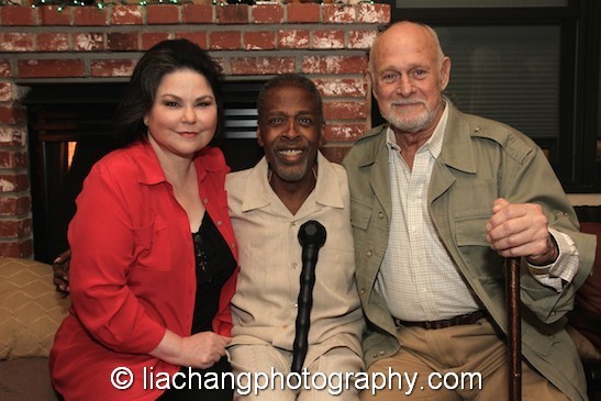 Delta Burke, Meshach Taylor and Gerald McRaney at Taylor's 67th birthday party in Toluca Lake, CA on April 12, 2014. Photo by Lia Chang