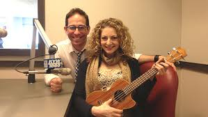Actors Garth Kravits and Lauren Molina promote their Bucks County Playhouse Production of Meet Me in St. Louis: A Live Radio Play, at KYW News Radio in Philadelphia, PA on December 24, 2013. Photo by Mandee Kuenzle