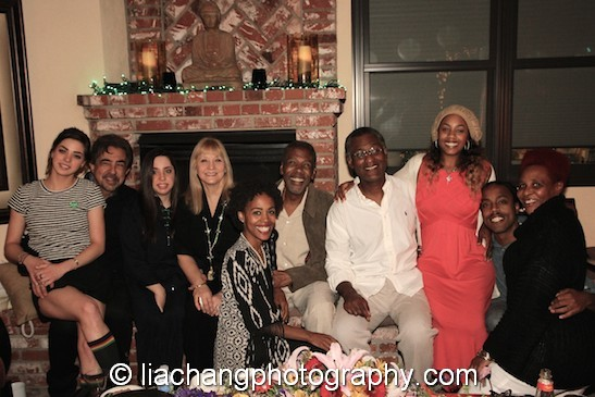 Gia Mantegna, Joe Mantegna, Mia Mantegna, Arlene Mantegna, Esme Taylor, Meshach Taylor, Don,Yasmine Taylor, Tariq Taylor, Tamar Taylor at Taylor's 67th birthday in Toluca Lake, CA on April 12, 2014. Photo by Lia Chang
