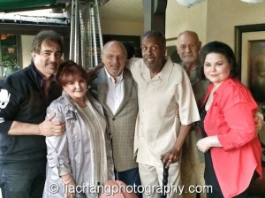 Joe Mantegna, Joanie and Dennis Franz, Meshach Taylor, Gerald McRaney and Delta Burke celebrated Taylor's 67th birthday in Toluca Lake, CA on April 12, 2014. Photo by Lia Chang