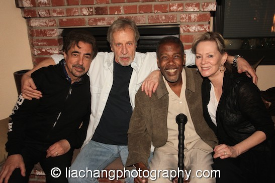 Joe Mantegna, Richard Gilliland, Meshach Taylor and Jean Smart. Photo by Lia Chang