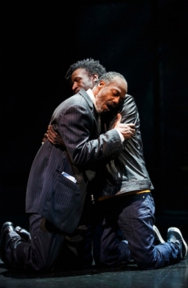 John Earl Jelks and Saul Williams. Photo by Joan Marcus