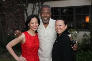 Lia Chang, Meshach Taylor and Tami Chang.