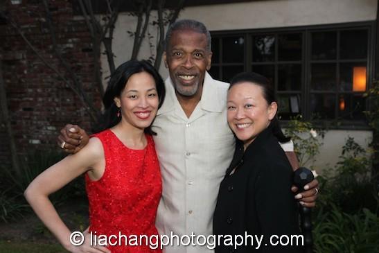 Lia Chang, Meshach Taylor and Tami Chang. Photo by Lia Chang