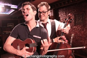 Longtime co-collaborators Mitchell Jarvis and Wesley Taylor after The Skivvies show at 54 Below in New York on June 4, 2014. Photo by Lia Chang