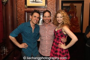 Nick Cearley, Garth Kravits and Lauren Molina at 54 Below in New York on June 4, 2014. Photo by Lia Chang