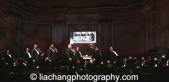 "Obba Babatunde and members of the original cast of Dreamgirls sang ""Steppin' to the Bad Side""   as part of The Black Stars of The Great White Way Broadway Reunion: Live The Dream at Carnegie Hall on June 23, 2014. Photo by Lia Chang"