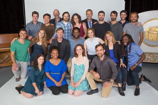 The cast of Othello: (back row, from left) Robbie Simpson, Stephen Hu, Mike Sears, Jonny Orsini, Megan M. Storti, Mark Pinter, Noah Bean, Patrick Zeller, Adam Gerber, and Kushtrim Hoxha; (middle row) Lowell Byers, Charlotte Bydwell, Richard Thomas, Blair Underwood, Kristen Connolly, Angela Reed, and Jamal Douglas; (front row) Meaghan Boeing, Erin Elizabeth Adams, Lindsay Brill, and Tyler Kent. Shakespeare's Othello, directed by Old Globe Artistic director Barry Edelstein, runs June 22 - July 27, 2014 at The Old Globe. Photo by Jim Cox.