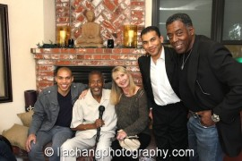 Ross Hudson, Meshach Taylor, Linda Hudson, Andrew Hudson and Ernie Hudson. Photo by Lia Chang