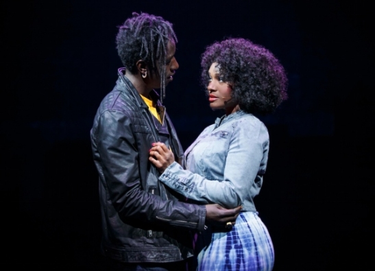 Saul Willams and Saycon Sengbloh. Photo by Joan Marcus