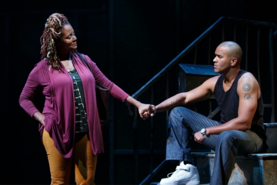 Tonya Pinkins and Christopher Jackson. Photo by Joan Marcus