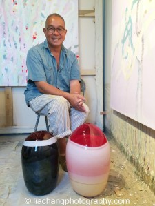 Artist Arlan Huang in his Brooklyn Studio on July 12, 2014. Photo by Lia Chang