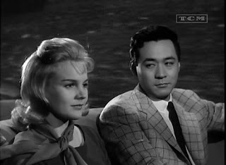 Carroll Baker and James Shigeta in Bridge to the Sun. Photo courtesy of TCM